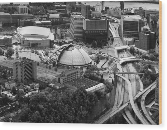 Mellon Arena  Wood Print