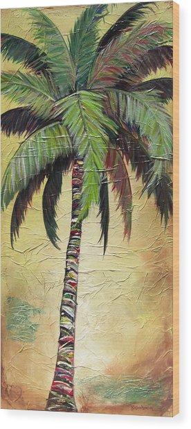 Mellow Palm I Wood Print