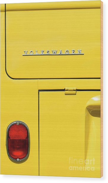 Mellow Yellow Wood Print by Tim Gainey