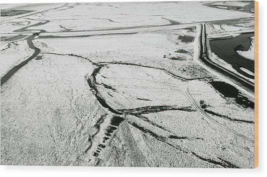 Wood Print featuring the photograph Melting Ice Patterns In Iceland by Pradeep Raja PRINTS