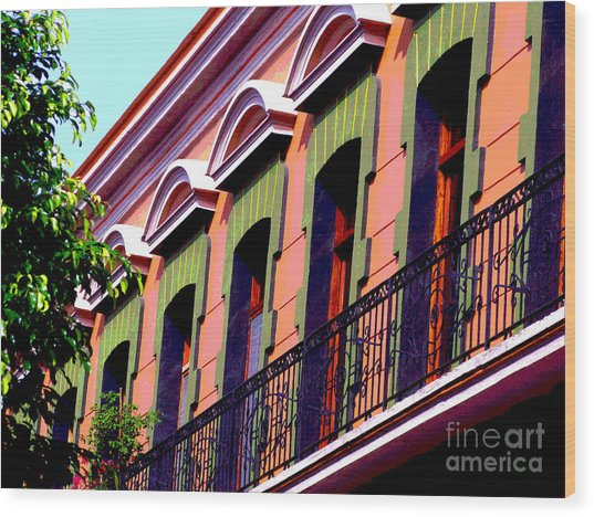 Melville Balcony By Darian Day Wood Print by Mexicolors Art Photography