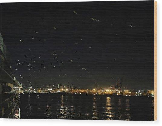 Memorable Naples Evening Departure Wood Print