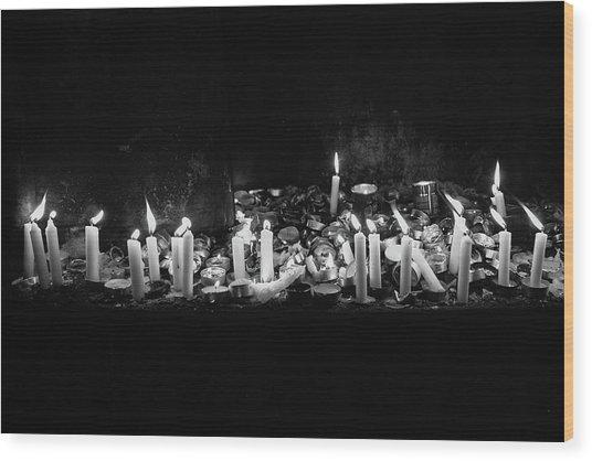 Memorial Candles II Wood Print