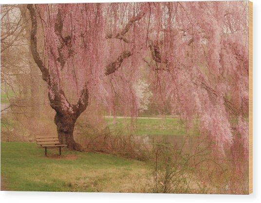 Memories - Holmdel Park Wood Print