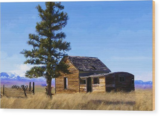 Memories Of Montana Wood Print