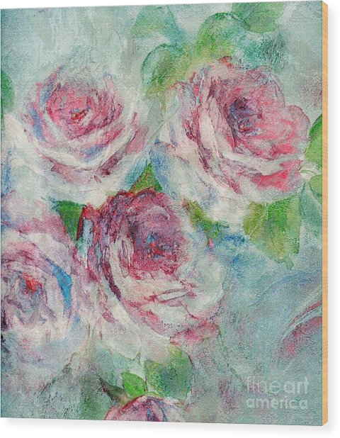 Memories Of Roses Wood Print