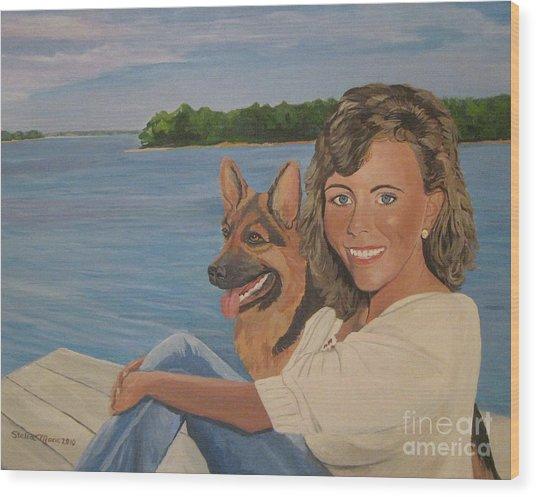 Memories Of Stephanie In Freeport Wood Print