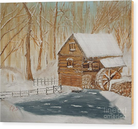 Memories Of The Past Wood Print