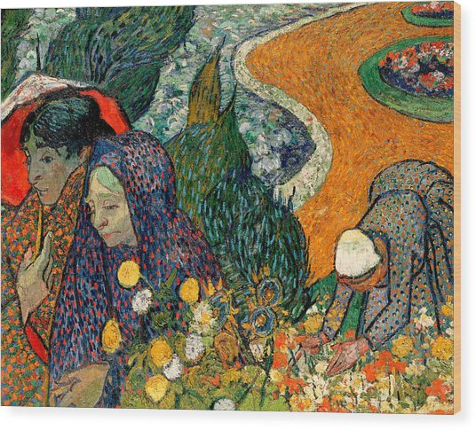 Wood Print featuring the painting Memory Of The Garden At Etten by Van Gogh