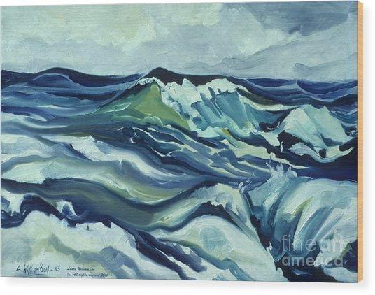 Memory Of The Ocean Wood Print