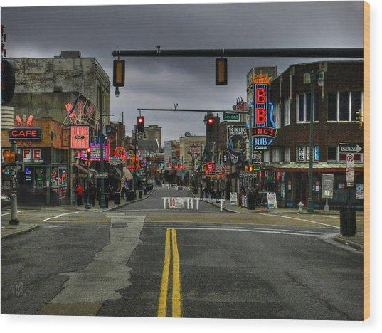 Memphis - Beale Street 001 Wood Print