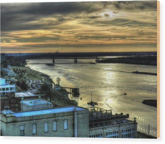 Wood Print featuring the photograph Memphis Fall Hdr 003 by Lance Vaughn