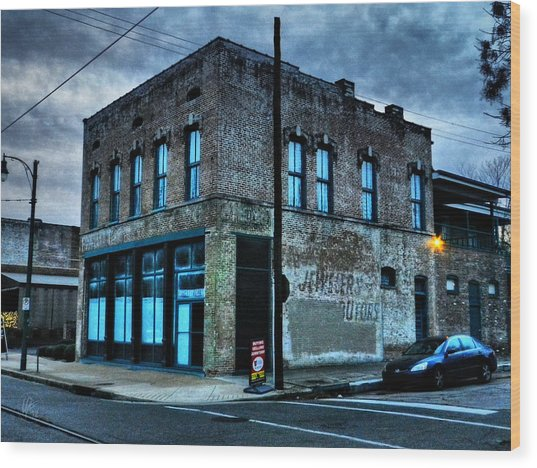 Wood Print featuring the photograph Memphis - South Main 001 by Lance Vaughn