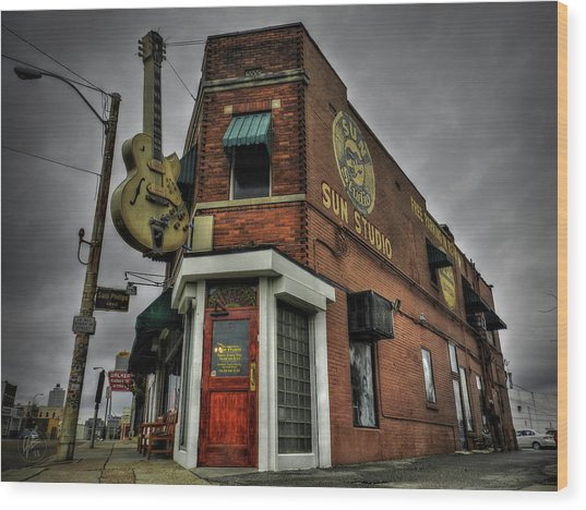 Wood Print featuring the photograph Memphis - Sun Studio 002 by Lance Vaughn
