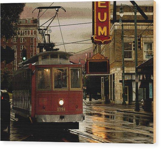 Memphis Tennissee Streetcar Wood Print