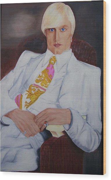 Men In White Wood Print by Svetlana Vinokurtsev