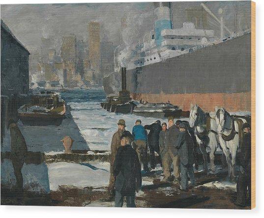 Men Of The Docks Wood Print