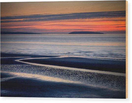 Menai Strait Wood Print