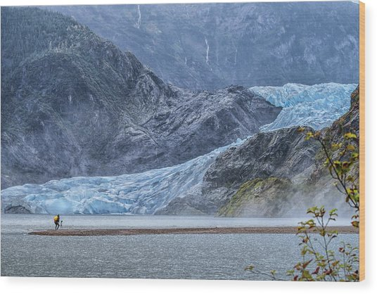 Mendenhall Glacier Wood Print
