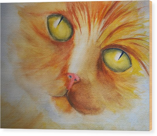 Meow Wood Print