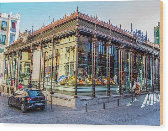 Mercado San Miguel, Madrid Wood Print