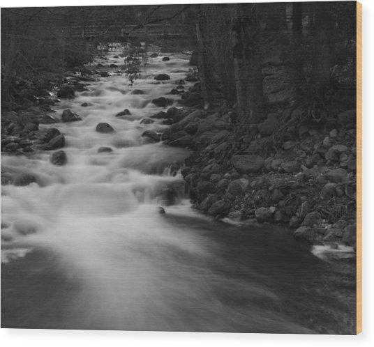 Merced River Falls Wood Print