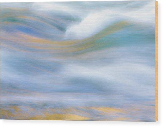 Merced River Reflections 19 Wood Print