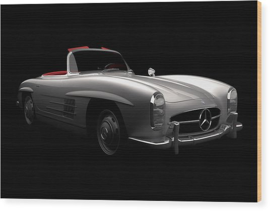 Mercedes 300 Sl Roadster Wood Print
