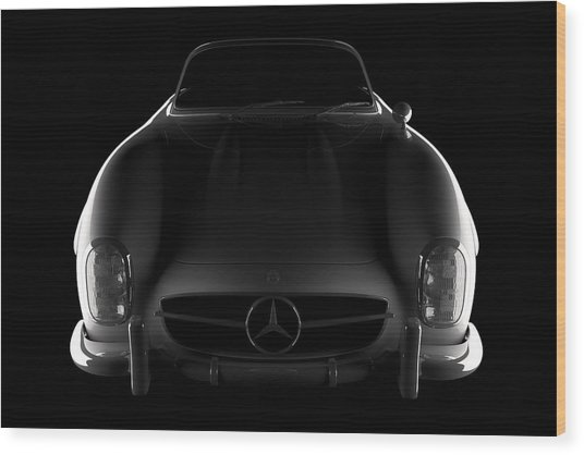 Mercedes 300 Sl Roadster - Front View Wood Print