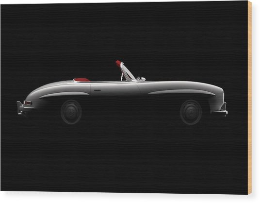 Mercedes 300 Sl Roadster - Side View Wood Print