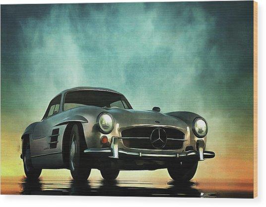 Mercedes 300sl Wood Print