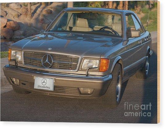 Mercedes 560sec W126 Wood Print