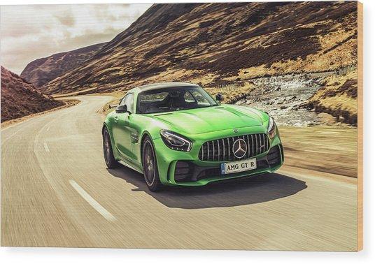 Mercedes A M G  G T  R Wood Print