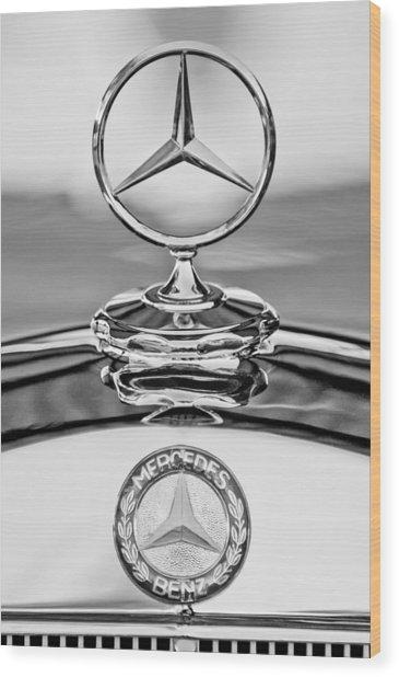 Mercedes Benz Hood Ornament 2 Wood Print