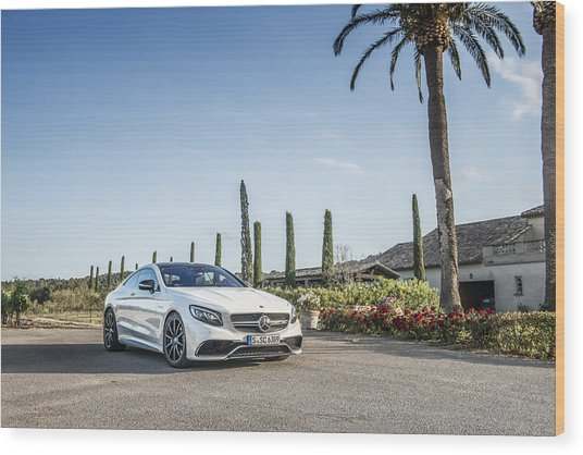 Mercedes Benz S63 Coupe Wood Print
