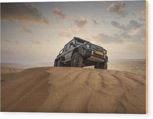 Mercedes G63 6x6 In Oman Desert Wood Print