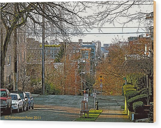 Mercer Street Wood Print