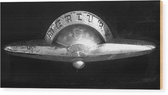 Mercury Emblem Wood Print by Audrey Venute