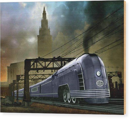 Mercury Train Wood Print