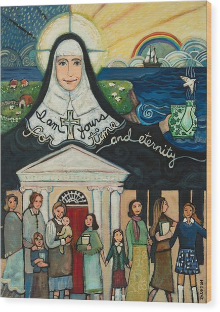 Mercy Foundress Catherine Mcauley Wood Print