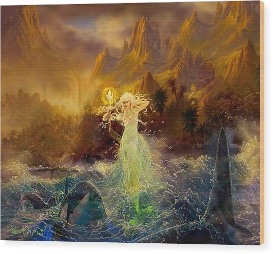 Mermaid Enchantress Wood Print