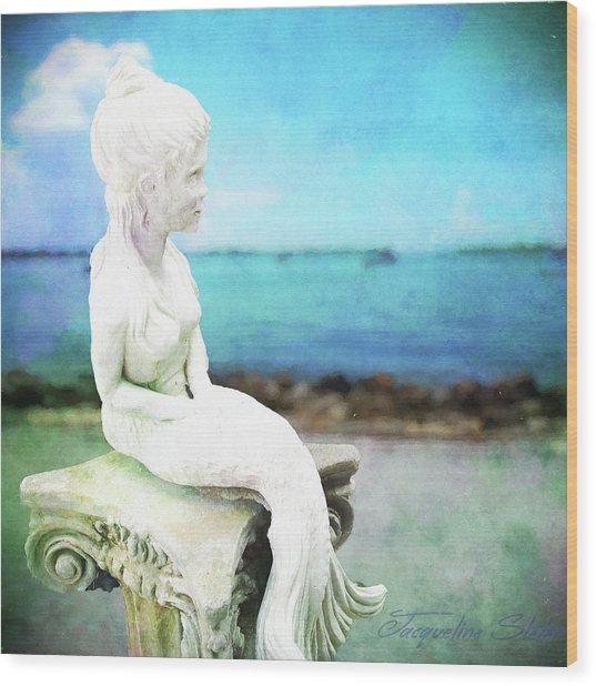 Mermaid Lisa Wood Print