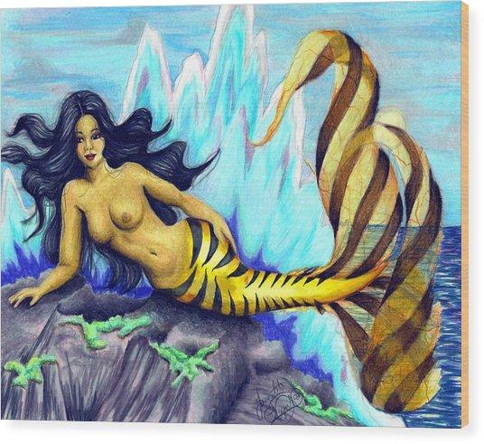 Mermaid Wood Print by Scarlett Royal