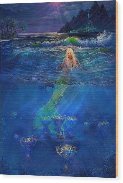 Mermaid Wood Print