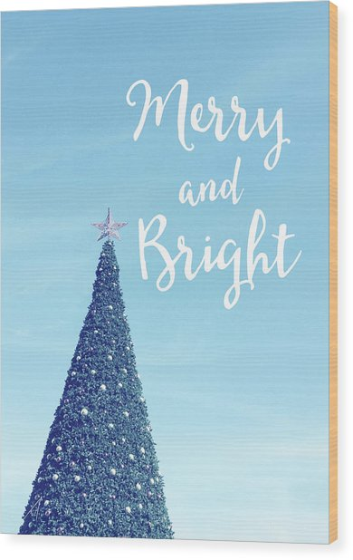 Merry And Bright - Art By Linda Woods Wood Print