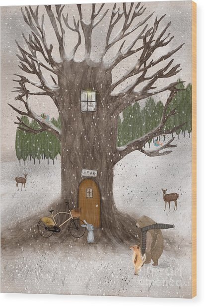 Merry Berry Wood Wood Print