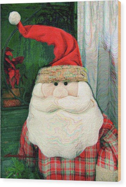 Merry Christmas Art 15 Wood Print