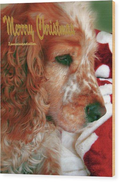 Merry Christmas Art 29 Wood Print