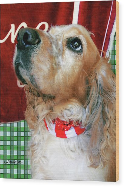 Merry Christmas Art 33 Wood Print