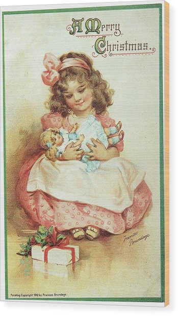 Merry Christmas For My Dolly Wood Print